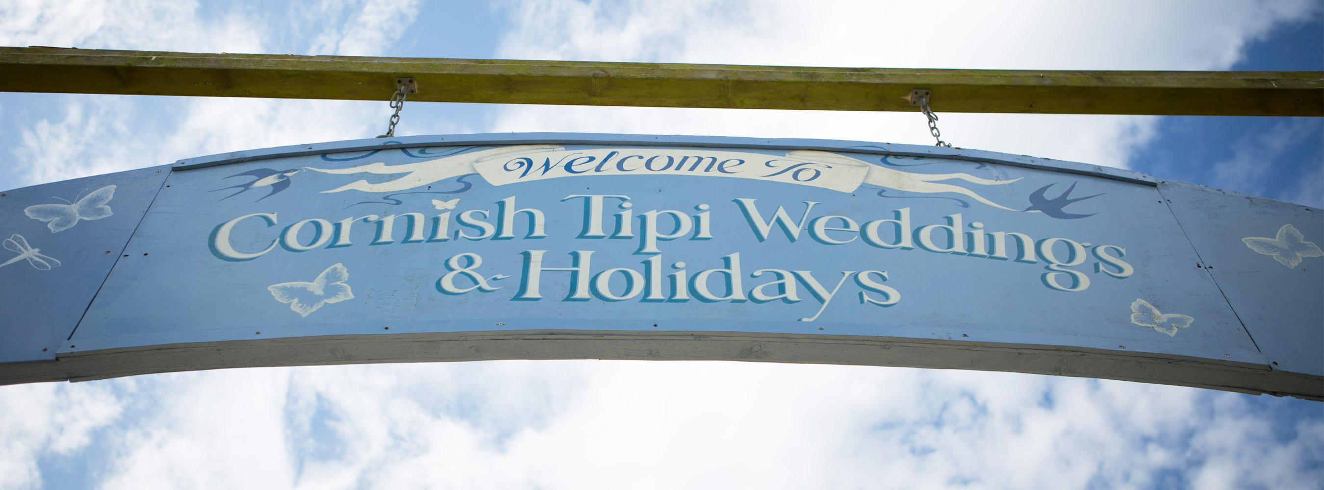 Entrance Welcome Sign