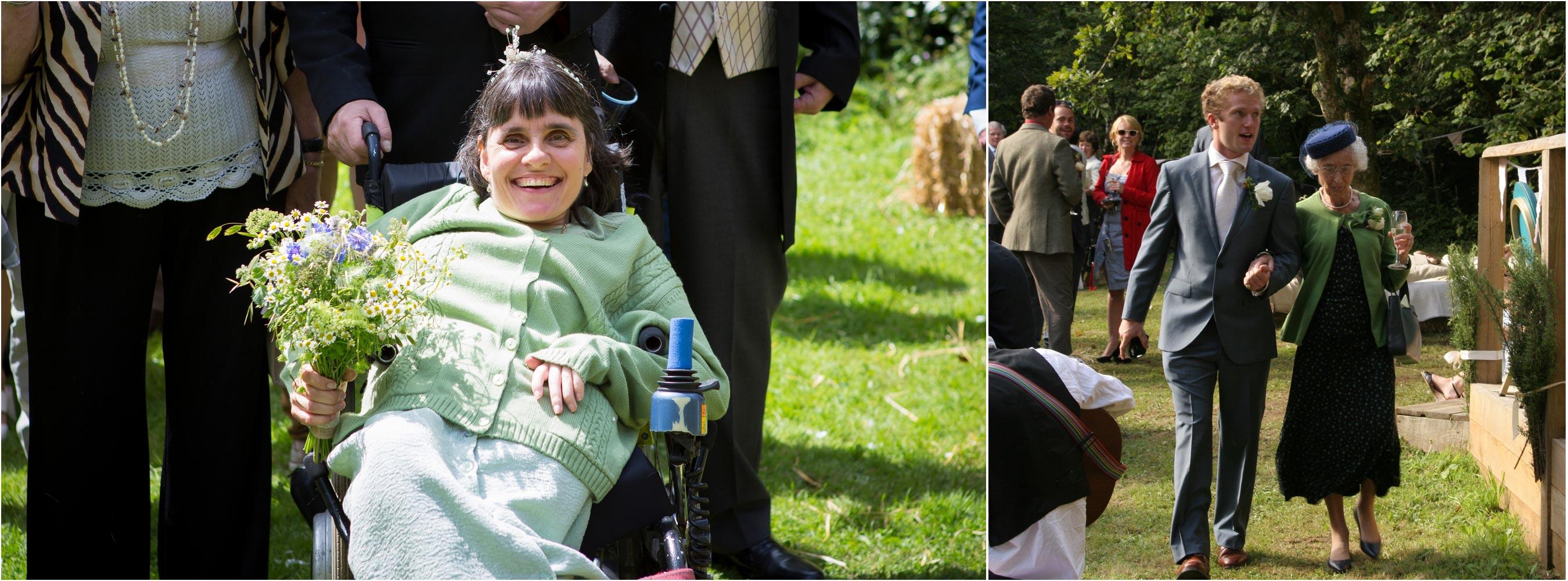 Wheelchair Happy Bridesmaid Jolly Green Granny