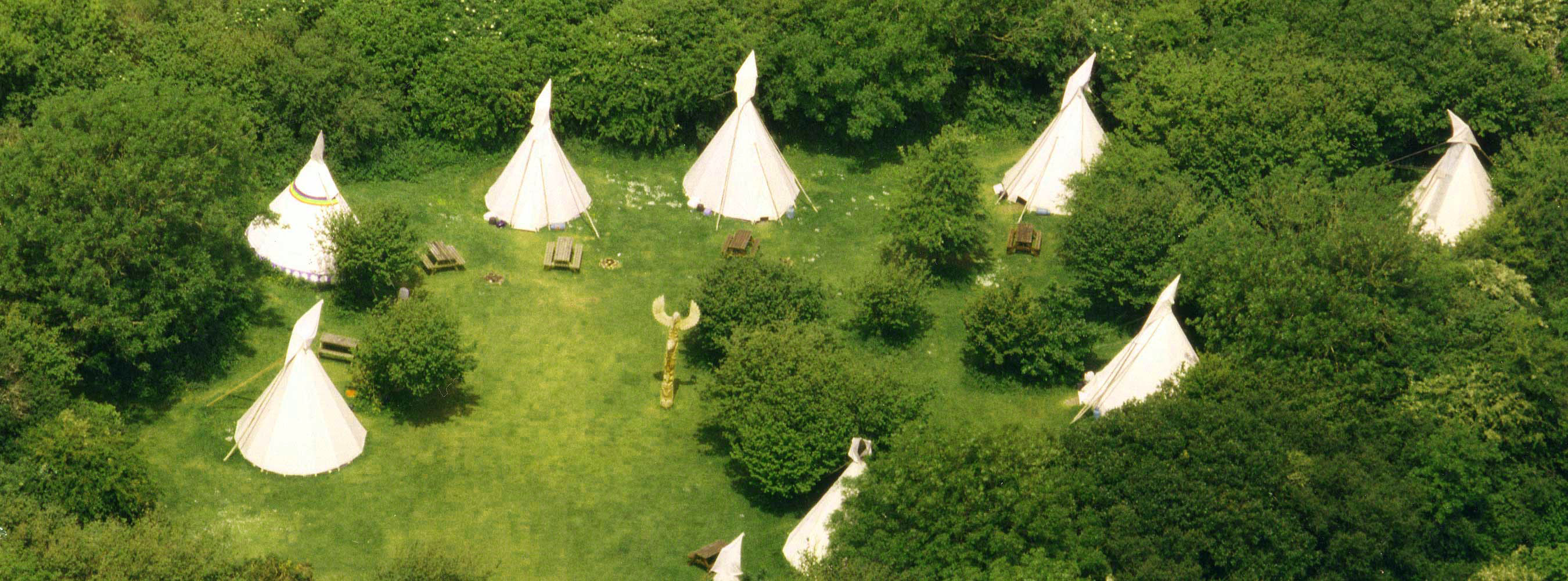 Guests can stay in one of our equipped tipis