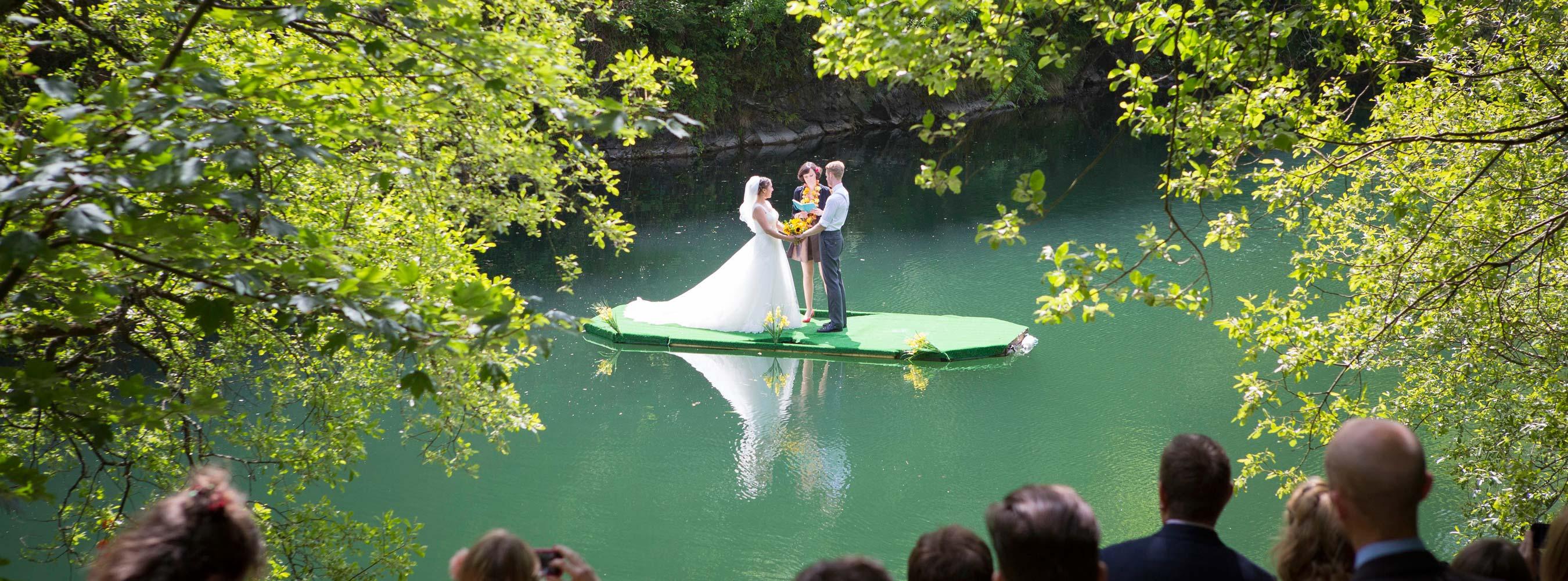 Floating Lake Wedding