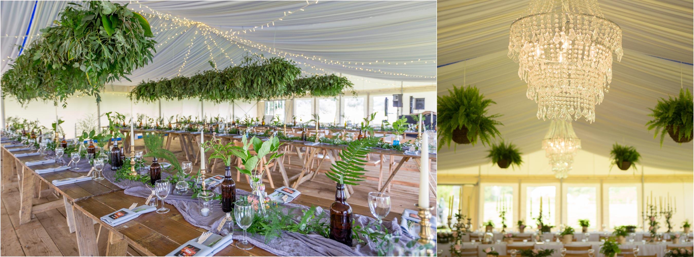 Marquee woodland fern chandelier style
