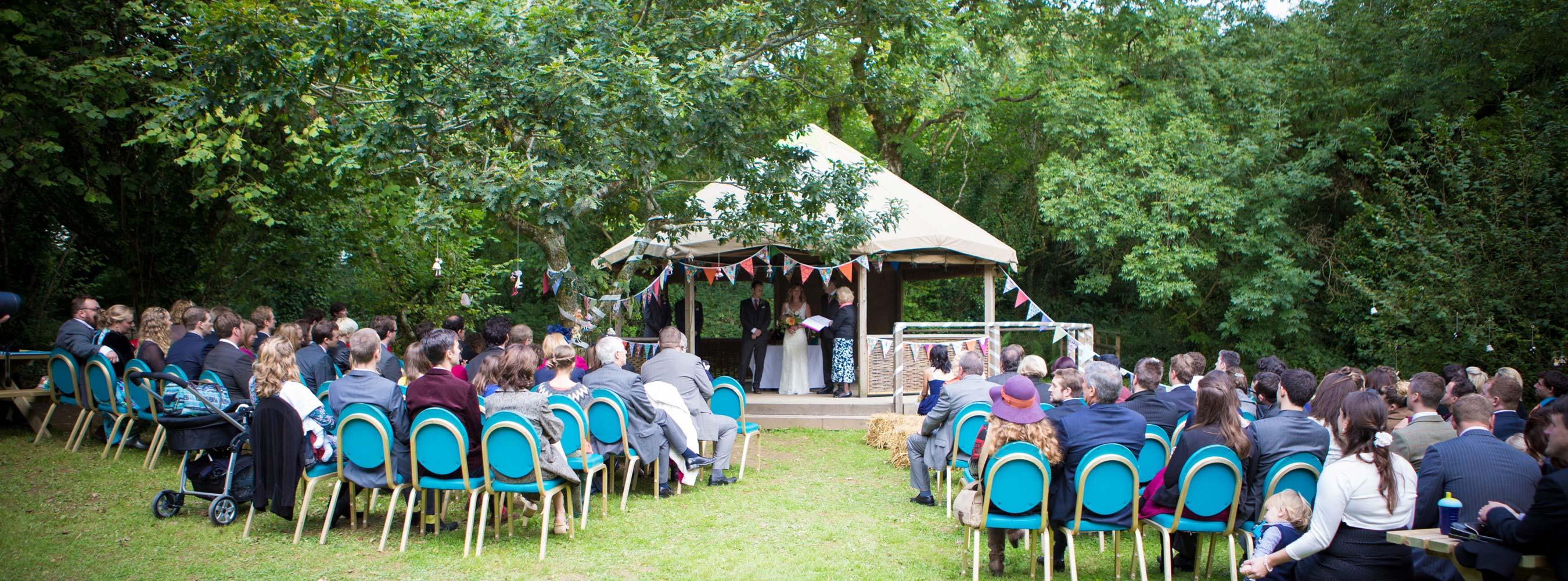 Wedding Pavilion Outside Legal Ceremony