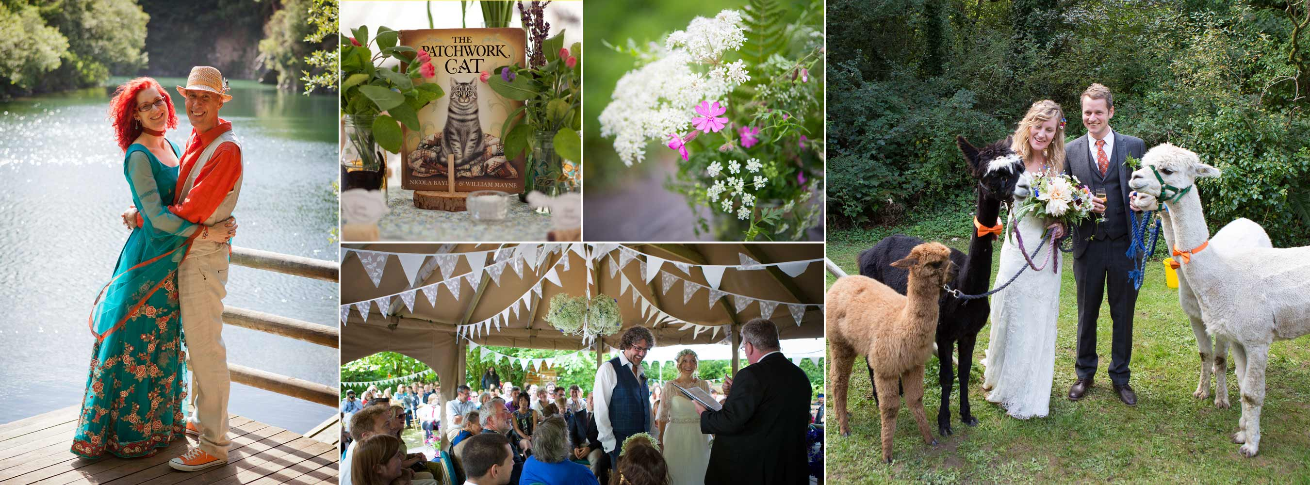 Wedding details alpacas ceremony lake